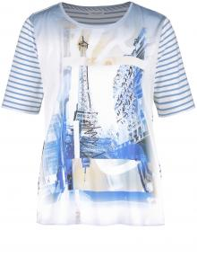 Gerry Weber Dames t-shirt Blauw korte mouw