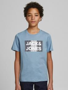 Jack & Jones Junior Kids t-shirt blauw korte mouw