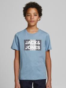 Jack & Jones Junior Kids t-shirt blauw korte mouw