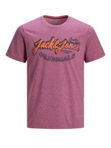 Jack & Jones Heren t-shirt Paars korte mouw