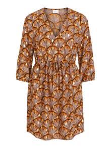 Vila Dames jurk Bruin
