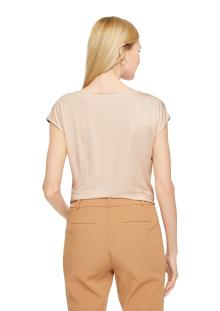 Comma by s.Oliver Dames t-shirt Beige zonder mouw