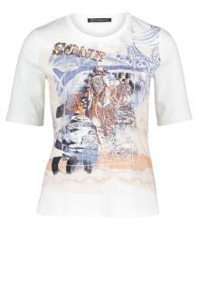 Betty Barclay Dames t-shirt Ecru korte mouw