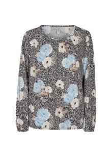 Soya Concept Dames t-shirt Blauw lange mouw