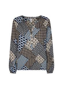 Soya Concept Dames t-shirt Blauw 3/4-mouw