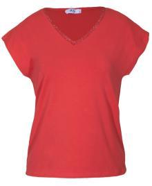 Vila Joy Dames t-shirt Roze korte mouw
