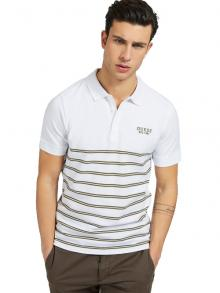 GUESS Heren Polo Wit korte mouw