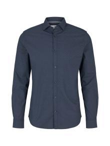 Tom Tailor Heren hemd Blauw lange mouw