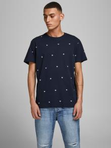 Jack & Jones Heren t-shirt Blauw korte mouw