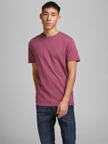 Jack & Jones Heren t-shirt Paars korte mouw