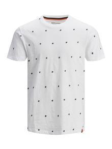 Jack & Jones Junior Kids t-shirt Wit korte mouw