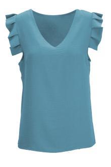 Dazzling Dames hemdsbloes Blauw zonder mouw