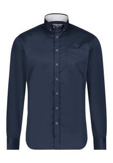 Bluefields Heren hemd Blauw lange mouw
