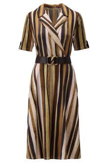 K-design Dames jurk Bruin