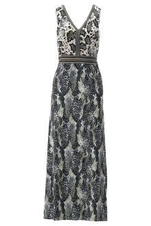 K-design Dames jurk Groen zonder mouw