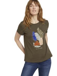 Tom Tailor Dames t-shirt Groen korte mouw