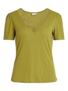 Vila Dames t-shirt Groen korte mouw