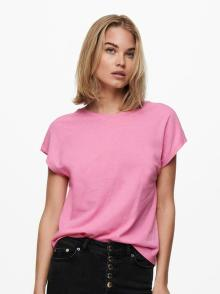 ONLY Dames t-shirt Roze korte mouw