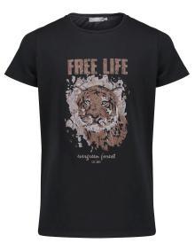 Geisha Kids t-shirt Zwart korte mouw