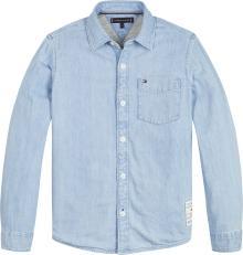 Tommy Hilfiger Kids hemd Jeans lange mouw