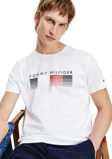 Tommy Hilfiger Heren t-shirt Wit korte mouw