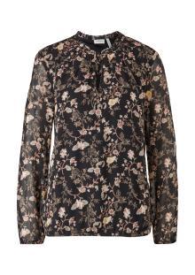 S.Oliver Premium Dames hemdsbloes Zwart lange mouw