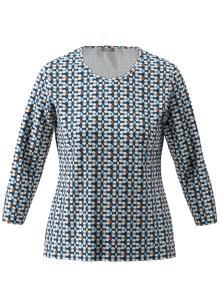 Rabe Dames t-shirt blauw 3/4-mouw
