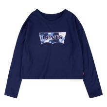 Levi's Junior Kids t-shirt Blauw lange mouw