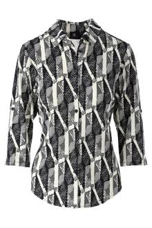 K-design Dames t-shirt Zwart lange mouw